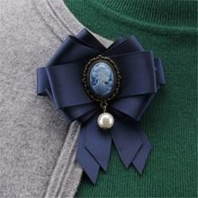 Broche de retrato de cabeza de Reina Vintage, broches de tela de cinta de joyería para mujeres, niñas, abrigo, PIN para cuello de camisas, accesorios para regalos