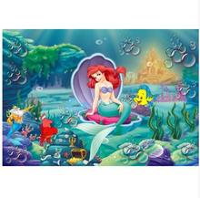 MEHOFOTO 7x5ft Bubbles Under Sea Ariel Princess Little Mermaid Rocks Corals Custom Photo Studio Backdrop Background cst2070