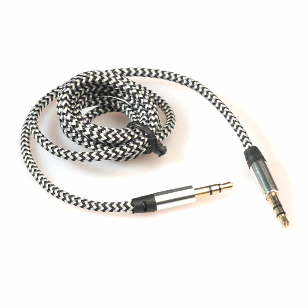 Universal 3.5mm Stereo Car Auxiliary Audio Cable AUX Line Jack For Smart Phone For Bluetooth Headphone MP3 PC Phone NY21