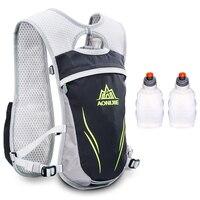 AONIJIE 5.5L Men Women Trail Running Hydration Backpack Sport Hiking Racing Cycling Camping Marathon Rucksack Bag 250 Bottles