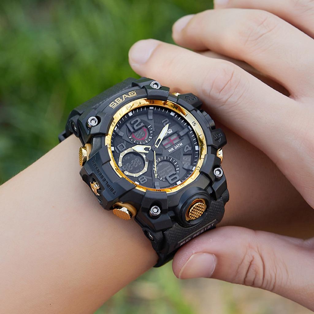 SBAO Luxus Mode Marke Sport Uhr Frauen Männer Digital LED Elektronische Uhren TPU Quarz Unisex Uhr Armbanduhren zegarek
