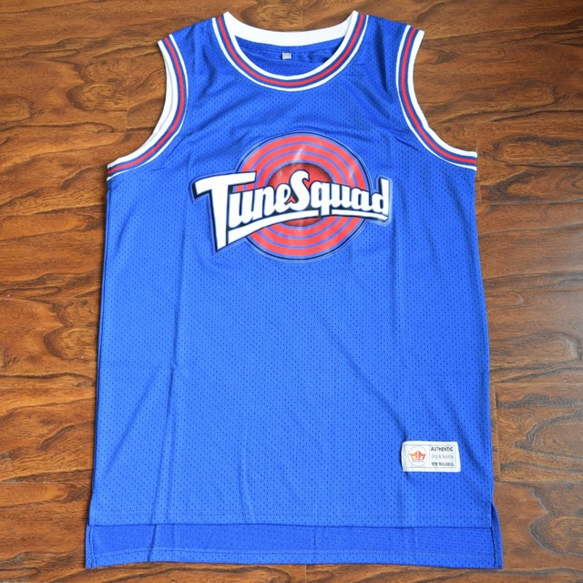 a7bb006797e7c0 MM MASMIG  17 Kinds  Space Jam SYLVESTER 9 W. COYOTE 13 FUDD 53 TAZ !  PODOLAK 96 Tune Squad Basketball Jersey Stitched Blue