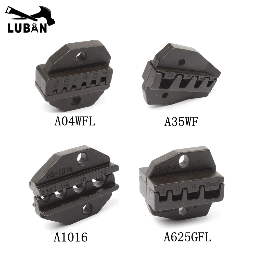 A04WFL A35WF A1016 A625GFL Die Sets for HS CRIMPING PILER Crimping machine HS-04WFL AM-10 EM-6B1 EM-6B2 die sets modules jaws luban die sets for hs am 10 em 6b1 em 6b2 pneumatic crimping tools crimping piler crimping machine accessories 23 sets jaws
