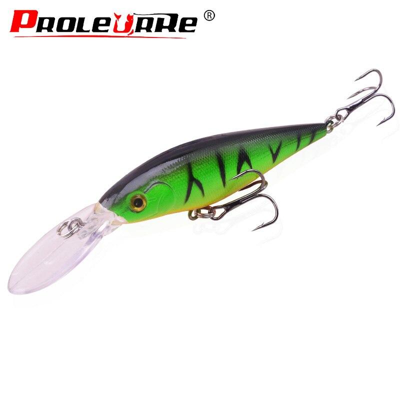 Proleurre Minnow Fishing Lure 110mm 11g Crankbait Wobblers Swimbait With Treble Hooks Artificial Hard Bait Fishing Tackle PR-197