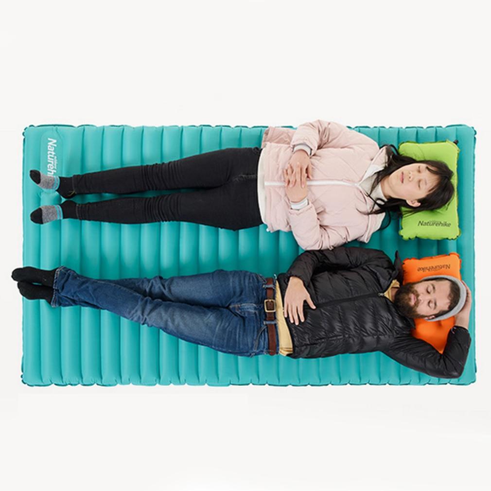 Двойной надувной коврик Открытый Отдых небольшой Упакованные Размеры легкий Moldable надуть и выкачать удобного хранения