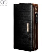YINTE Fashion Men's Clutch Wallet Leather Men Purse Business Zipper Clutch Bag Luxury Men Hand Bag Wrist Bags Portfolio T8036 2