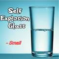 Self Explosion Glass (Small),(Dis 6.7*H 10.5cm) magic tricks,gimmick,stage magic,illusions,Accessories,commedy