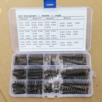 340pcs Wire dia 0.2 0.6mm OD 2 12,68 value Steel compression springs kit package