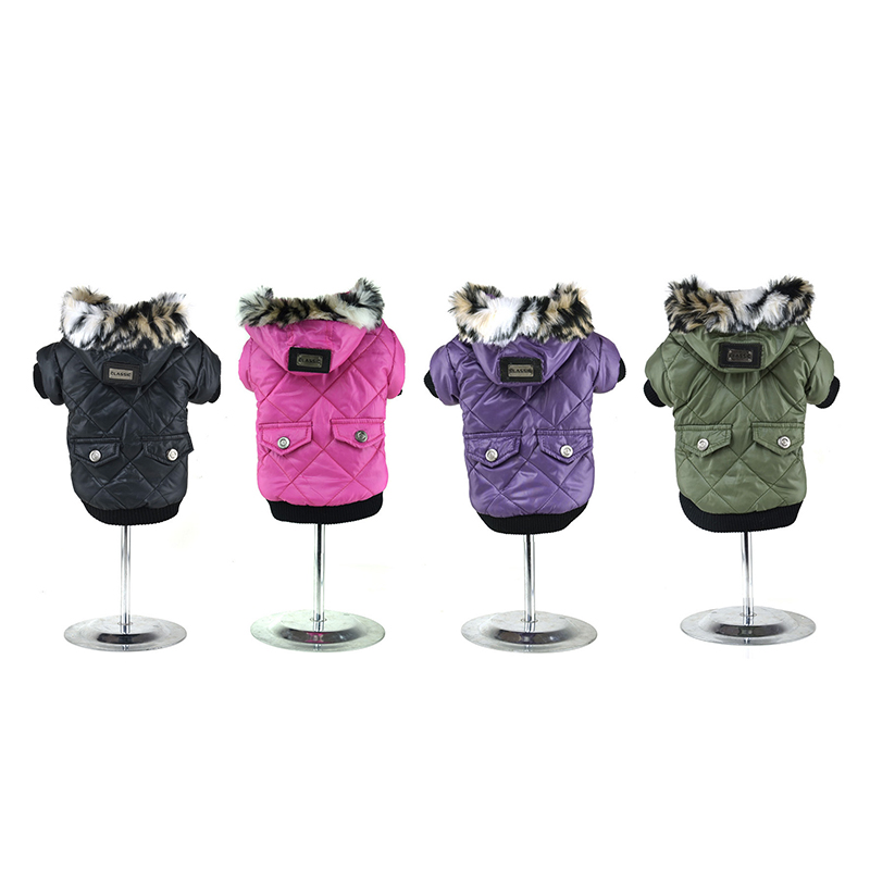 Short Type Winter Warm Clothes For Small Dogs Soft Fur Hoodie Puppy Cat Jacket Pet Dog Coat French Bulldog Costume Dog Clothing
