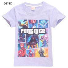 5a4497dbc4c DZYECI Fortnite Battle Royale T Shirt For Teen Boy Girl Top Cotton Clothes  Summer Fornite Child
