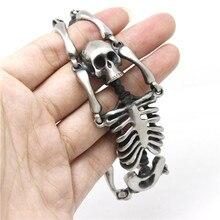 Mens Boys  Mens Boys 316L Stainless Steel Cool Punk Gothic Style Dull Polishing Skull Link New Bracelet Factory Price New Gift