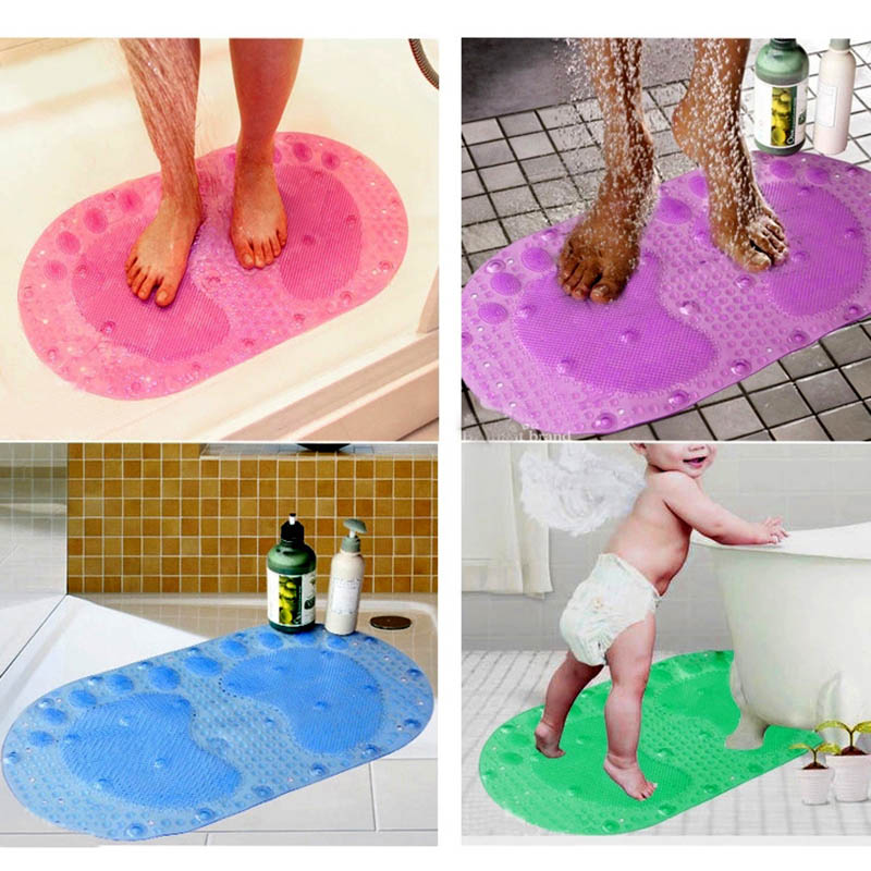 Foot Strong Suction Anti Slip Mat Bath Shower Anti Skid Carpet Bathroom Mats  HG99