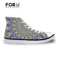 Oriental Print Canvas Shoes For Women Brand Fashion Floral High Top Casual Canvas Shoes Student Ankle