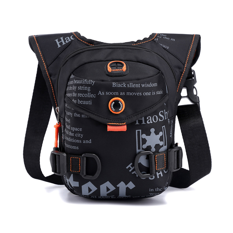 Men Waterproof Nylon Drop Leg Bags Thigh Hip Bum Belt Bag Waist Fanny Pack Boys Travel Riding Motorcycle Crossbody Shoulder Bags 1