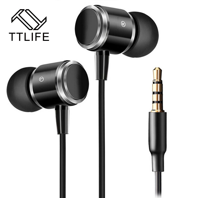 TTLIFE Original Stereo Music High Quality 3.5mm Jack Metal Earphone For MP3 Player Hot Sale Brand Earbud For ipod