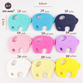Silicone Elephant Charm Baby Gym Pendant Food Grade Silicone Teether For Newborn Baby Chaw 2pc Play Gym Accessories Baby Teether