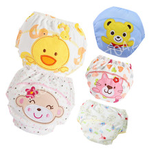 цена на Baby Cotton Training Pants Panties Diapers Reusable Cloth Diaper Nappies Washable Infants Children Underwear Nappy Changing