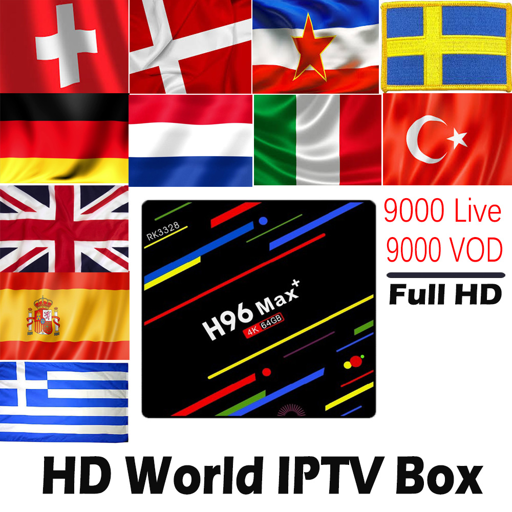 H96 MAX Plus 4G 32G 4G 64G Android 8 1 TV Box with 9000 Live 9000