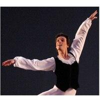 Free Shipping Custom Made Man Ballet Tops,Ballet Jacket Coat Shirt Leotard Shirt For male Boy Coat For Ballet Men Dance Costumes