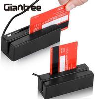 USB Credit Card Reader Wired USB Magnetic Stripe Swipe Magstripe Scanner Plastic