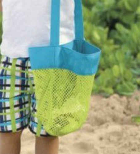 Anti Sand Beach Bag Toy Storage Large Mesh Durable Sand Away Drawstring Backpack