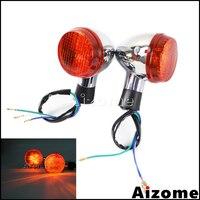 Motorcycle Front Turn Signals Light For Honda Shadow 400 750 VT750 2004 2007 Emark Turn Indicator Lights Flash Lamp Blinkers