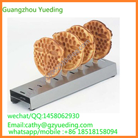 Commercial Electric smile shape mini waffle making machine waffle cone maker for sale