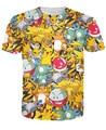 Pokemon Pikachu camiseta vibrante kawaii lindo de la historieta T-shirt de moda de verano casual gimnasio tee tops camisas de marca camisa Alisister
