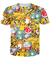 Pokemon Pikachu t shirt vibrant cute cartoon kawaii T-shirt summer fashion casual fitness tee tops brand shirts camisa Alisister