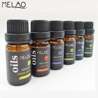 MELAO 10 мл 6pcs-set эфирные масла для ароматерапии диффузор Чай дерево Эвкалиптового Масла для Ладан горелки