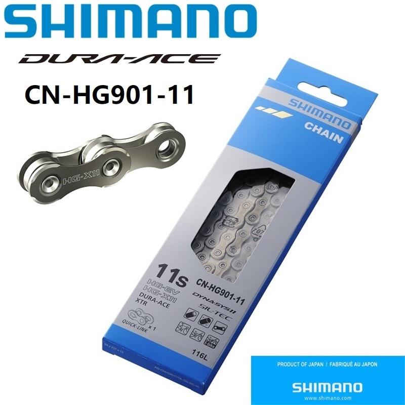 Shimano Dura-ace XTR CN-HG901-11 HG-X 11-speed 116L Road Bike Chain /& Quick-Link