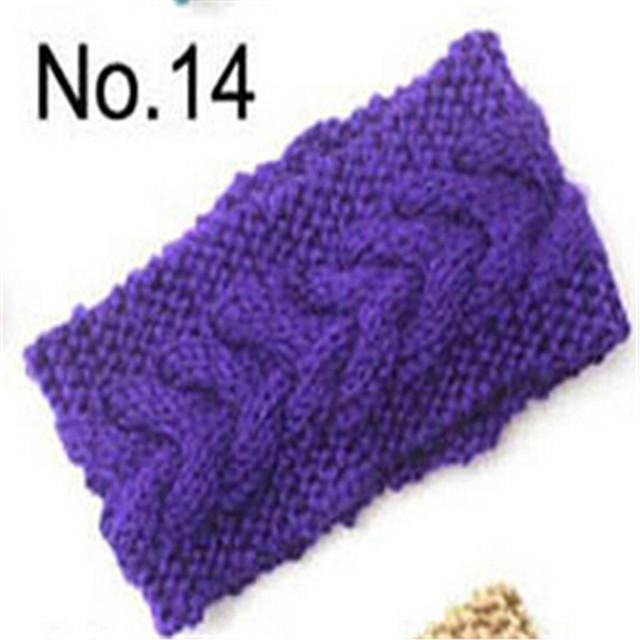 Soft Violet Women's Crochet Knit Headband Hairband Flower Ear Headwrap Winter Warm Hair Suppiles For Ladies
