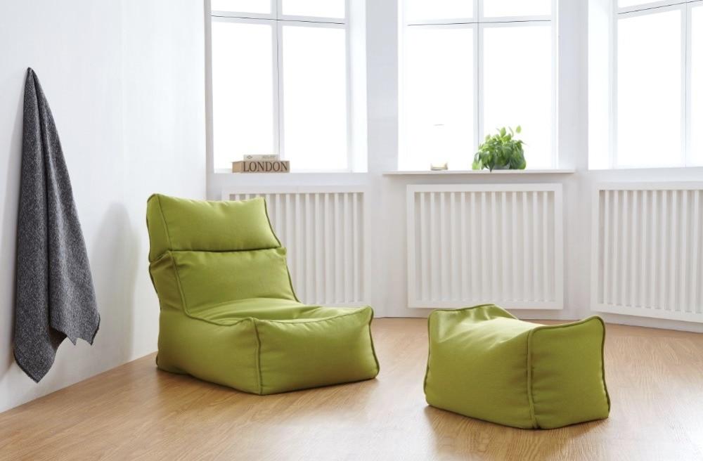 modern linen bean bag living room chair leisure lazy sofa