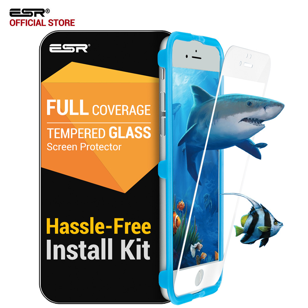 ESR Screen Protector For IPhone 6/6S/7/8 Plus Tempered Glass Film Full Coverage Anti-Explosion Screen Protector Protection Film