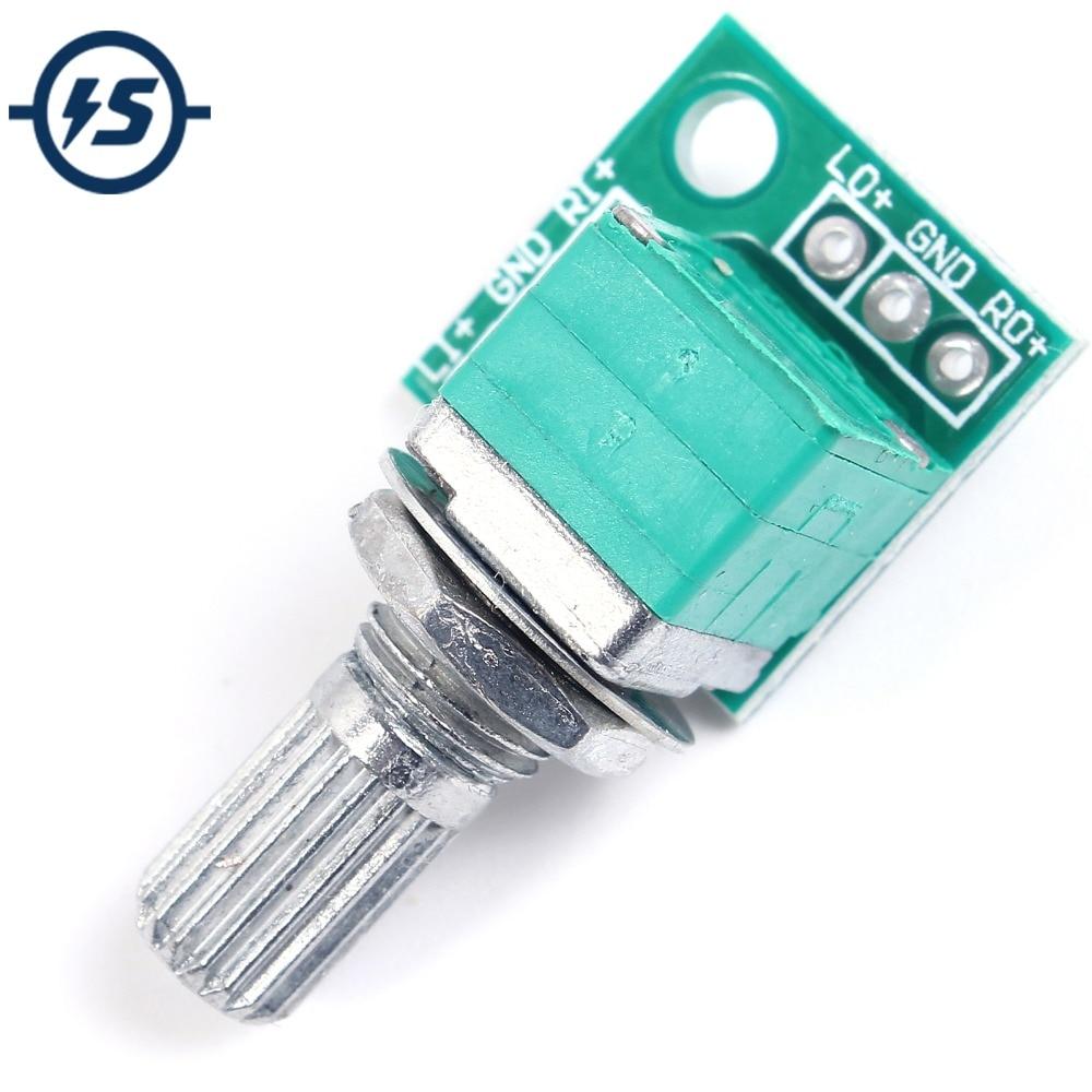 3pcs Volume Control Potentiometer 50K Audio Accessories Dual Connection Potansiyometre Volume Adjuster Adjusting Equipment