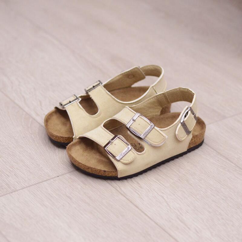Sandaler för tjej Barn små killar sandaler kork sandaler för barn flickor baby 2018 barn dubbla kork flip flops tidvatten strand skor
