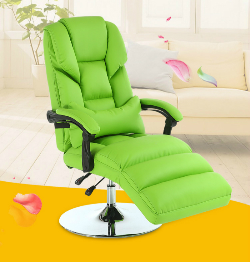 Multifunctional Beauty Salon Chair Reclining Lunch Break Computer Chair PU Lifted And Rotation Office Chair Tattoo Lounge Chair