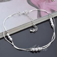 Fashion Jewelry Plated Silver Anklets High Quality Ankle Bracelet Factory Price Fine Jewelry 10 inch Anklet MDA022