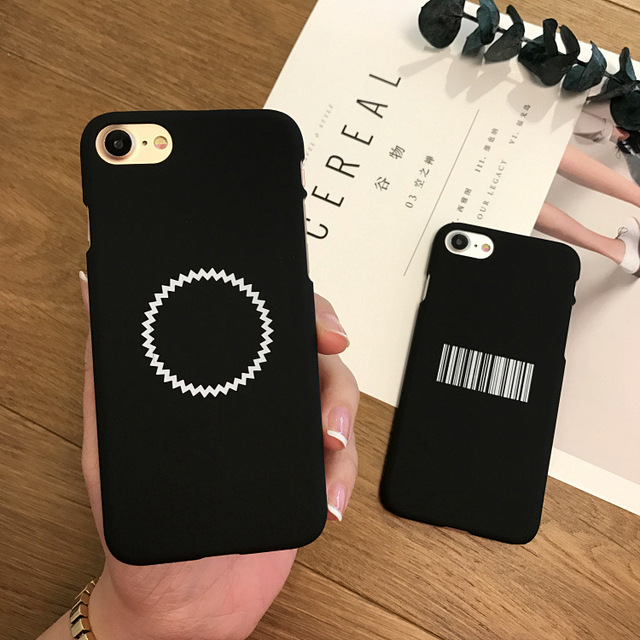 the latest 10b6e fcacf US $2.43  SZYHOME Phone Cases For iPhone 6 6s 7 Plus Case Simple Frosted  Black Code Circle For Apple iPhone 7 Plus Mobile Phone Cover Case-in Fitted  ...