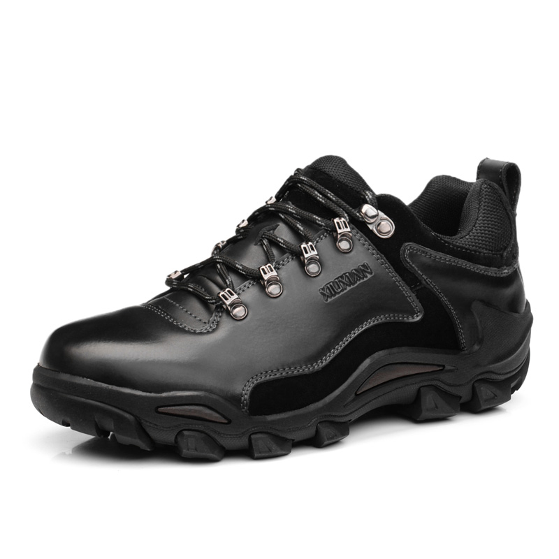 Men Outdoor Hiking Boots Men Waterproof Non-slip Mountaineering Shoes Men Real Leather Trekking Fishing Hunting Hiking Shoes Men outdoor hunting shoes for men waterproof winter sneakers men increased internal non slip hunting camping shoes hiking boots
