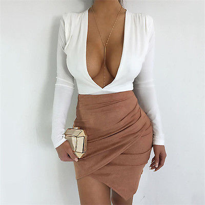 Sexy Leather Suede Skirts Women Vintage Cross Zipper Split Mini Skirt Sexy High Waist Bodycon Short Pencil Skirt