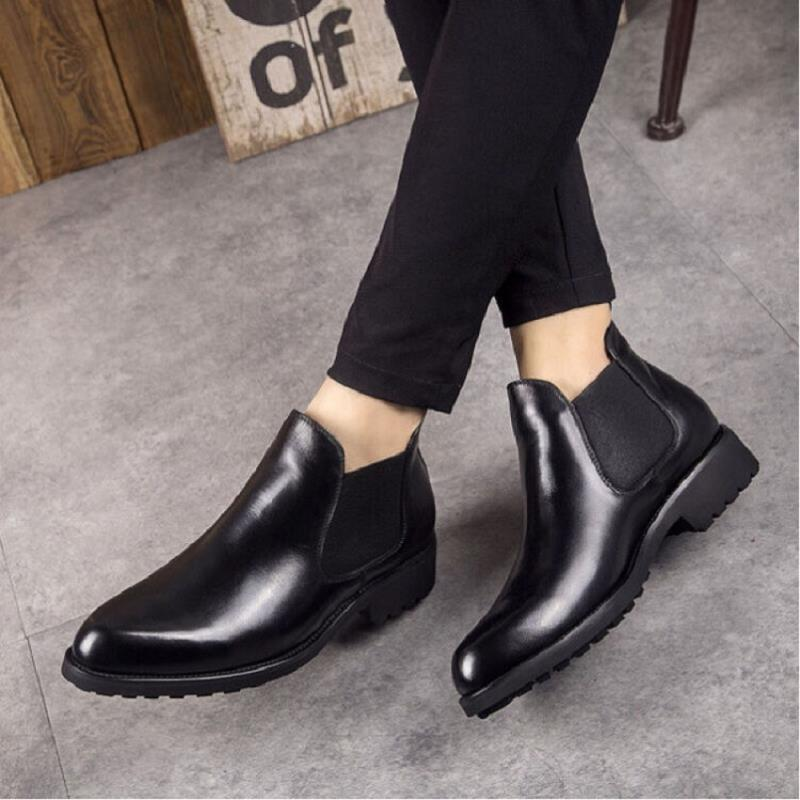 Inverno Qualidade Casual Northmarch Confortáveis Outono Dos Ankle Alta Preto Negócios De Homens Sapatos Couro Boots Planas 6wxrWzfn6
