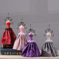 DIY Lace Skirt Metal Jewelry Model Display Stand Necklace Showing Rack Earring Hanging Holder Bracelet Shelf