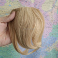 "Venta al por mayor 8 "" a la moda Girls Clips on frente Neat Bang Fringe extensiones de cabello humano 20 g mixta Blonde # 613"