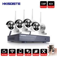 Беспроводной CCTV Системы 1080 P Беспроводной NVR 4ch 1.0MP IP Камера Водонепроницаемый Открытый P2P охранных Системы наблюдения Наборы