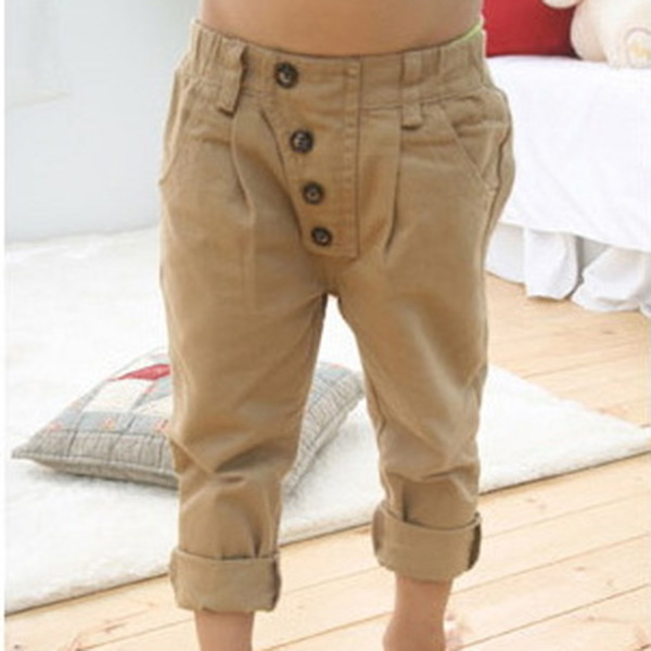 Hot Sale Spring Autumn Kids Children Baby Boys Pants Comfortable High Quality Casual Retro Khaki Casual Straight Trousers 2-7Y