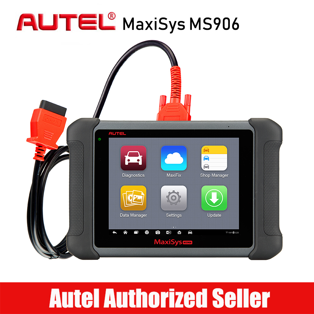 все цены на Autel MaxiSys MS906 Automotive Diagnostic Tool All System Code Reader Scanner with ABS/SRS/SAS/EPB/DPF/Oil Reset/TPMS/Auto VIN онлайн