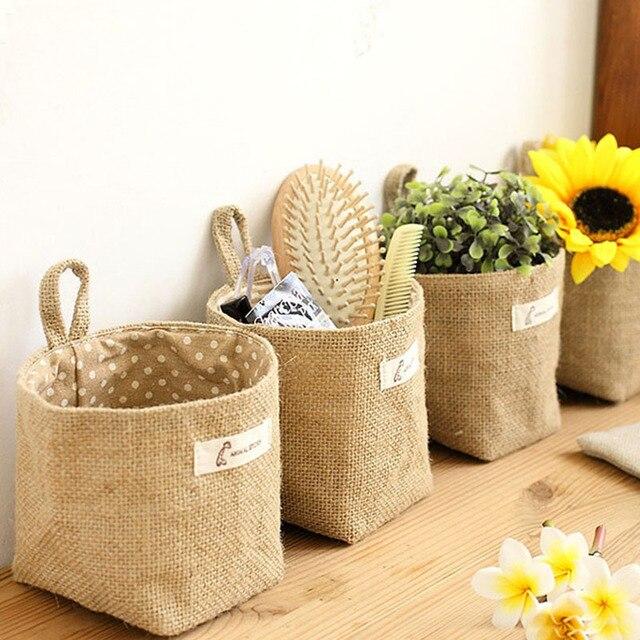 100 unids natural macetas sacos de arpillera de yute bolsas de