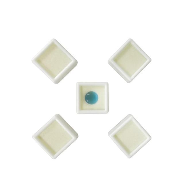 Wholesale 35Pcs Jewelry Display Box Square White Plastic Diamond Box