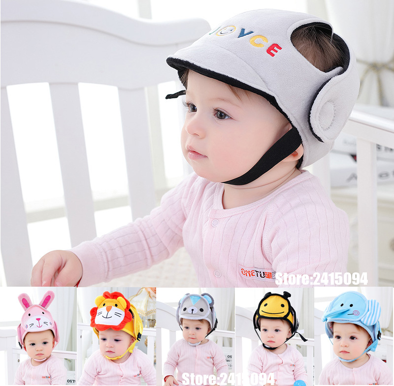 >Baby Protective Helmet <font><b>Boy</b></font> Girls Anti-collision Safety Helmet Infant <font><b>Toddler</b></font> security & Protection Soft Hat for Walking <font><b>Kids</b></font> cap
